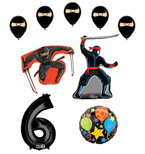 Ninja 6th Birthday Party Supplies and Balloon Decorations