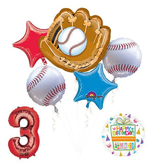 Baseball 3rd Birthday Party Supplies