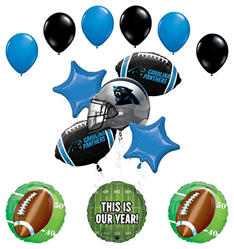 Mayflower Products Carolina Panthers Football Party Supplies This is Our Year Balloon Bouquet Decoration
