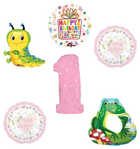 Garden Tea Party Dragonfly Caterpillar Frog 1st Birthday Party Supplies and Balloon Decorations