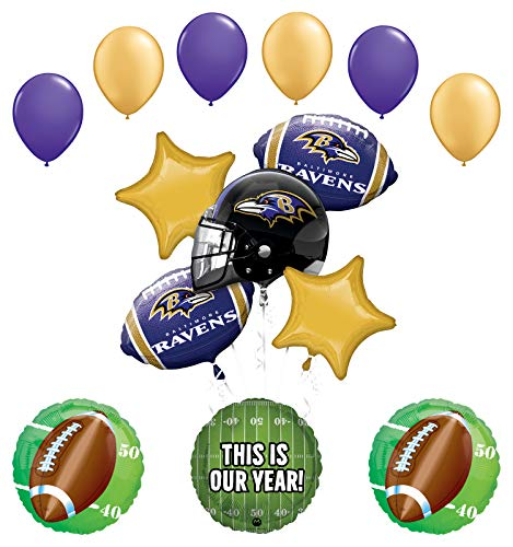 Mayflower Products Baltimore Ravens Football Party Supplies This is Our Year Balloon Bouquet Decoration