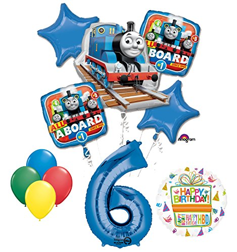 The Ultimate Thomas the Train Engine 6th Birthday Party Supplies and Balloon Decorations