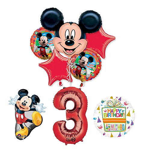 The Ultimate Mickey Mouse 3rd Birthday Party Supplies and Balloon Decorations