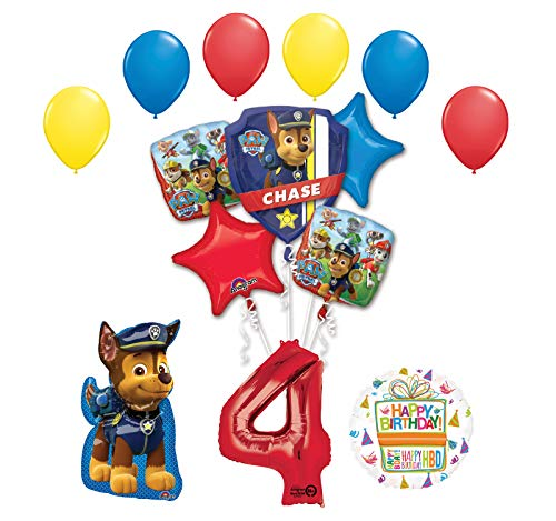 Chase and Friends 4th Birthday 14 pc Balloon Bouquet Decorations