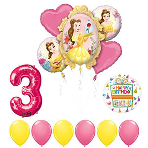 Beauty and The Beast 3rd Birthday Party Balloon supplies decorations