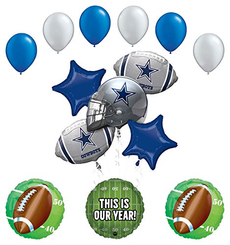 Mayflower Products Dallas Cowboys Football Party Supplies This is Our Year Balloon Bouquet Decoration
