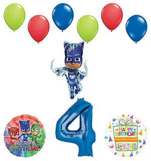 Mayflower Products PJ Masks Catboy 4th Birthday Party Supplies Balloon Bouquet Decorations