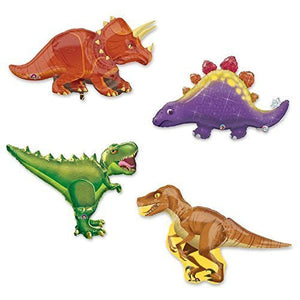 Giant 4 pc Dinosaur Foil Party Balloons