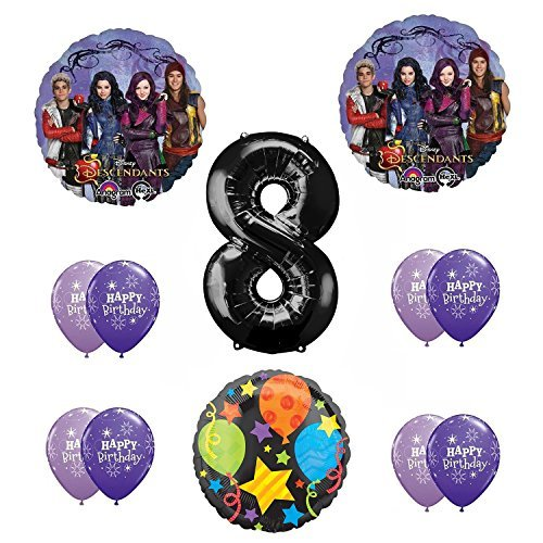 Disney The Descendants 8th Happy Birthday Party supplies Balloon Decoration Kit