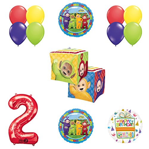 Teletubbies 2nd birthday CUBZ Balloon Birthday Party supplies and Decorations