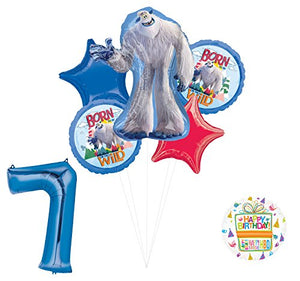 Smallfoot 7th Birthday Balloon Bouquet Decorations and Party Supplies