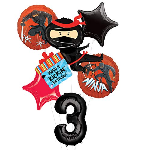 Mayflower Products Ninja Birthday Party Supplies Have A Happy Kickin 3rd Birthday Balloon Bouquet Decorations