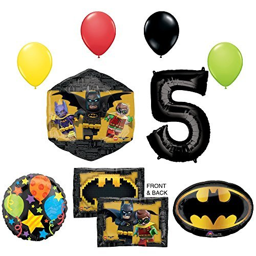 The Lego Batman Movie 5th Birthday Party Supplies and Balloon Decorations