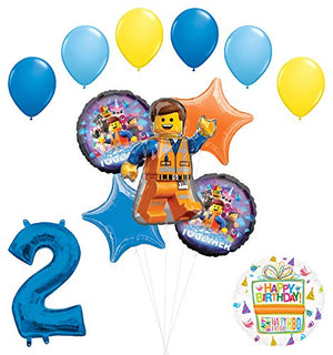 LEGO Movie Party Supplies 2nd Birthday Balloon Bouquet Decorations