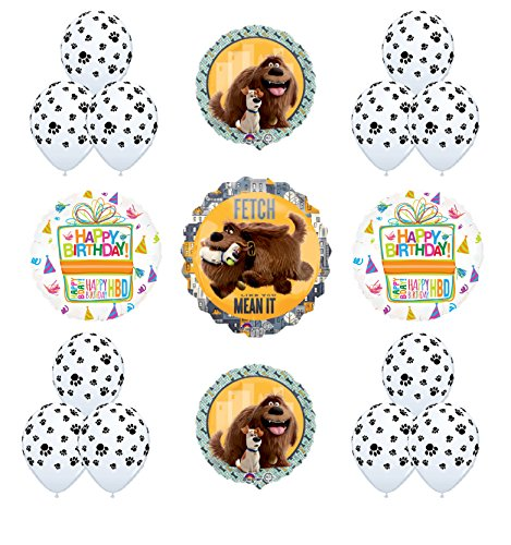 "17pc The Secret Life of Pets ""Fetch Like You Mean It"" Birthday Party Balloon Decorations"