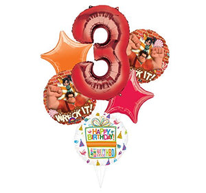 Wreck It Ralph Party Supplies 3rd Birthday Balloon Bouquet Decorations