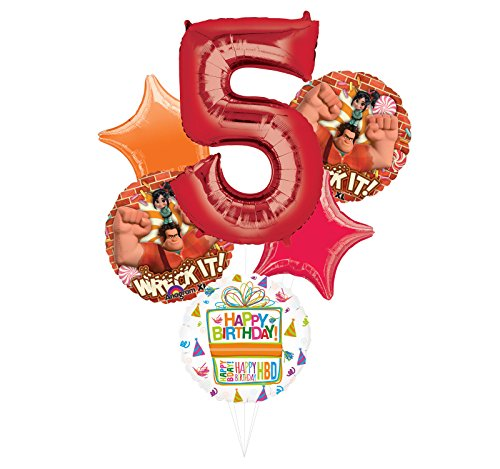 Wreck It Ralph Party Supplies 5th Birthday Balloon Bouquet Decorations