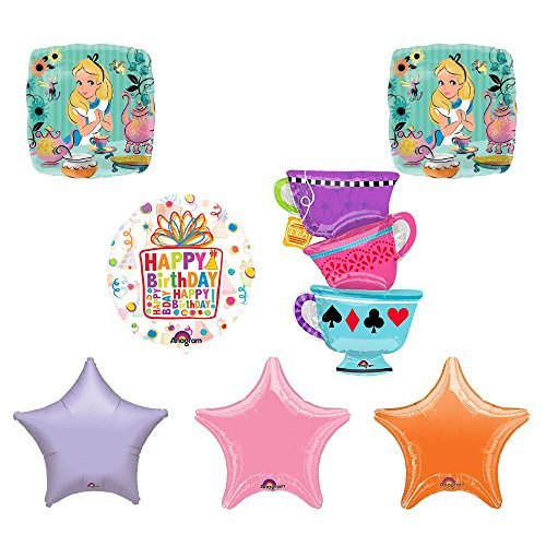 ALICE IN WONDERLAND Tea Party Tea Cup Birthday Balloons Decoration Supplies
