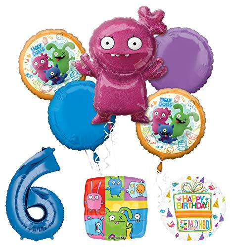 Mayflower Products Ugly Dolls Party Supplies 6th Birthday Balloon Bouquet Decorations