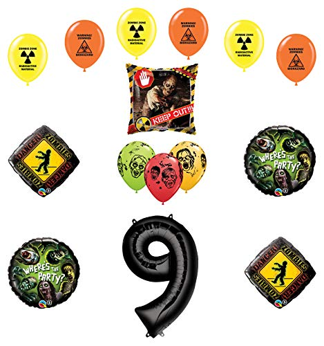 Mayflower Products Zombies Party Supplies 9th Birthday The Walking Dead Balloon Bouquet Decorations