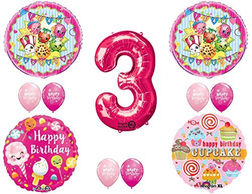 SHOPKINS 3rd BIRTHDAY PARTY Balloons Decorations Supplies kit