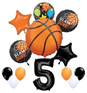 Mayflower Products Basketball 5th Birthday Party Supplies Nothin' But Net Balloon Bouquet Decorations