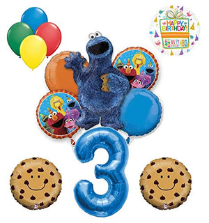Mayflower Products Cookie Monster and Friends 3rd Birthday Party Balloon Bouquet Decorations