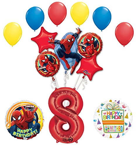 The Ultimate Spider-Man 8th Birthday Party Supplies and Balloon Decorations