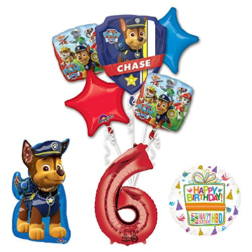The Ultimate Paw Patrol 6th Birthday Party Supplies and Balloon Decorations
