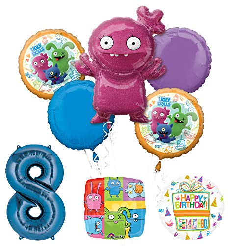 Mayflower Products Ugly Dolls Party Supplies 8th Birthday Balloon Bouquet Decorations