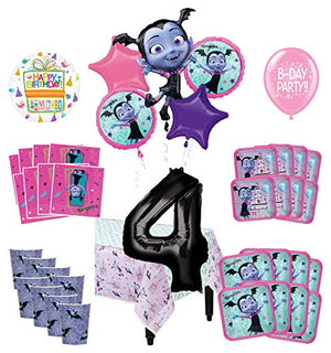 Mayflower Products Vampirina 4th Birthday Party Supplies 8 Guest Decoration Kit and Balloon Bouquet