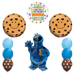 NEW! Sesame Street Cookie Monsters Birthday party supplies and Balloon Decorations