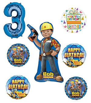 Bob The Builder Construction 3rd Birthday Party Supplies and Balloon Decorations
