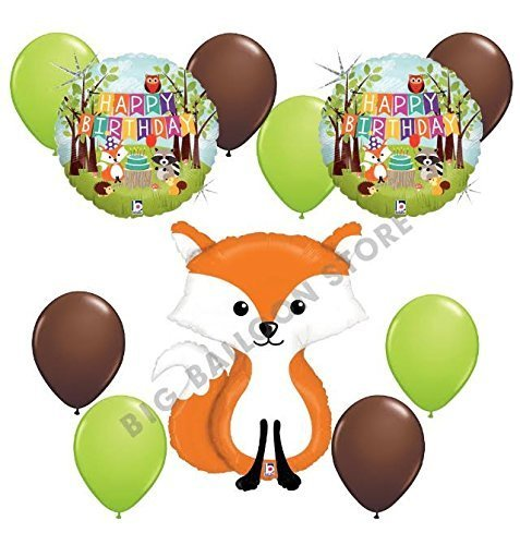 Woodland Creatures 11pc Fox Balloon Party Kit by Betallic