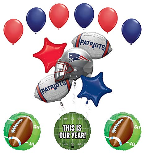 Mayflower Products England Patriots Football Party Supplies This is Our Year Balloon Bouquet Decoration