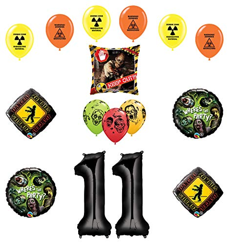 Mayflower Products Zombies Party Supplies 11th Birthday The Walking Dead Balloon Bouquet Decorations