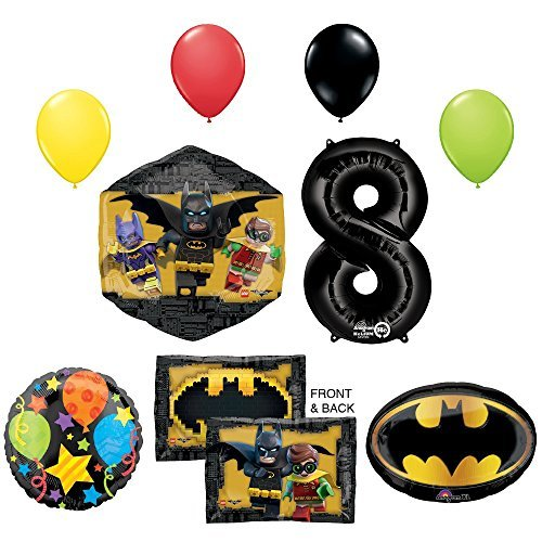 The Lego Batman Movie 8th Birthday Party Supplies and Balloon Decorations