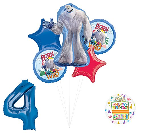 Smallfoot 4th Birthday Balloon Bouquet Decorations and Party Supplies