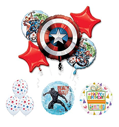 The Ultimate Avengers Black Panther Birthday Party Supplies and Balloon Decorations