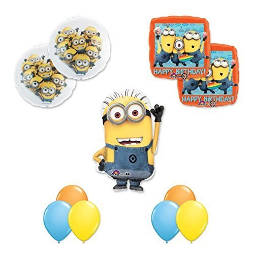 DESPICABLE ME 2 MINIONS 11 pc Happy Birthday PARTY Balloons Decorations Supplies