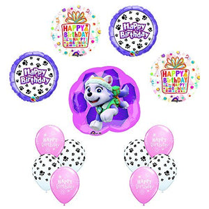 13 pc PAW PATROL SKYE & EVEREST Birthday Balloons Decoration Party Supplies