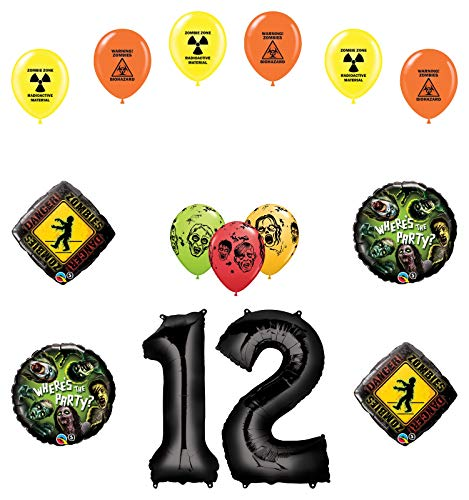 Mayflower Products Zombies 12th Birthday Party Supplies Walking Dead Balloon Bouquet Decorations