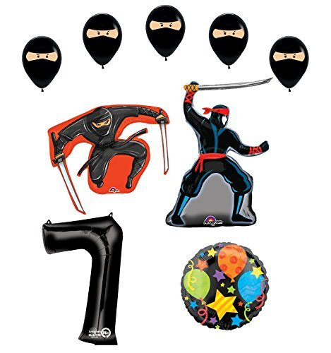 Ninja 7th Birthday Party Supplies and Balloon Decorations