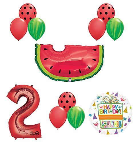 Watermelon Picnic Second 2nd Birthday Party Supplies and Balloons Decoration