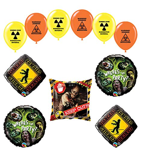 Mayflower Products Zombies Birthday Party Supplies The Walking Dead Balloon Bouquet Decorations