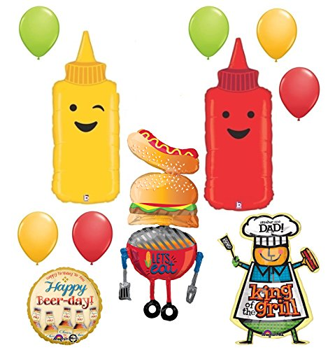Fathers Day Dads Birthday Party Supplies BBQ Balloon decorations