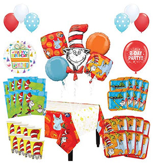 Mayflower Products Dr Seuss Birthday Party Supplies 16 Guest Decoration Kit and Balloon Bouquet