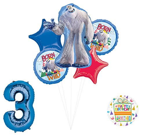 Smallfoot 3rd Birthday Balloon Bouquet Decorations and Party Supplies