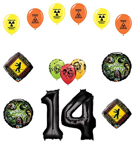 Mayflower Products Zombies 14th Birthday Party Supplies Walking Dead Balloon Bouquet Decorations