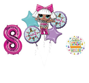 LOL Party Supplies 8th Birthday Balloon Bouquet Decorations